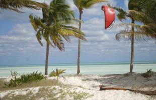 Cuban kitesurfing paradise.