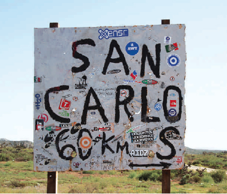 Driving to Punta San Carlos... this sign is a welcome sight!