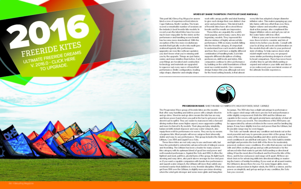 Kitesurfing Magazine Kite Tests