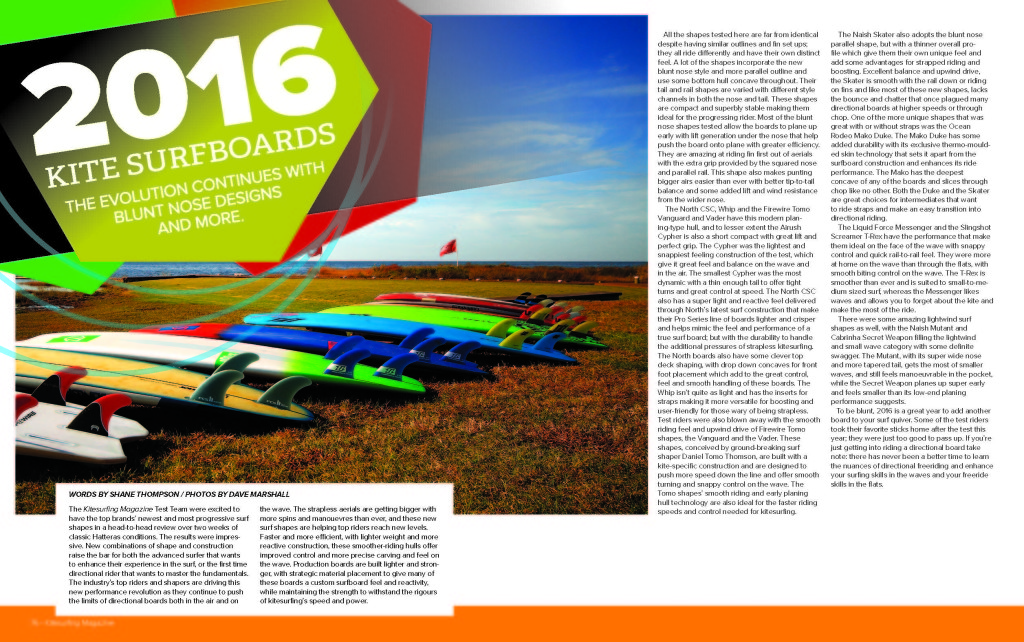 Kitesurfing Magazine Surf Tests