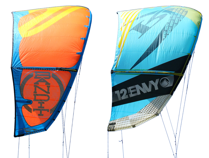 2016 Kite Tests - F-One Bandit, and Liquid Force Envy.