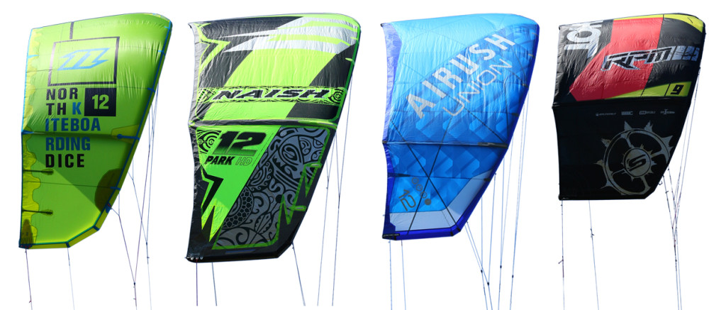 Tested: 2016 North Dice, Naish Park, Airush Union and Slingshot RPM.