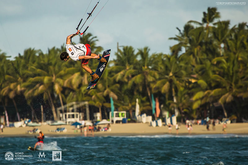 Caption: Alex, negotiating tricky conditions in Cabarete where he made the final once more Photo: Svetlana Romantsova / WKL