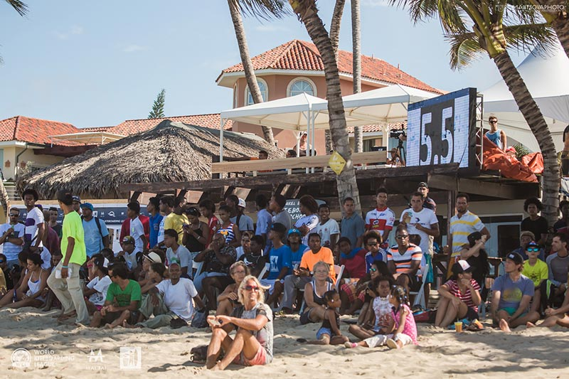 Caption: Cabarete scoreboard Photo: Svetlana Romantsova / WKL