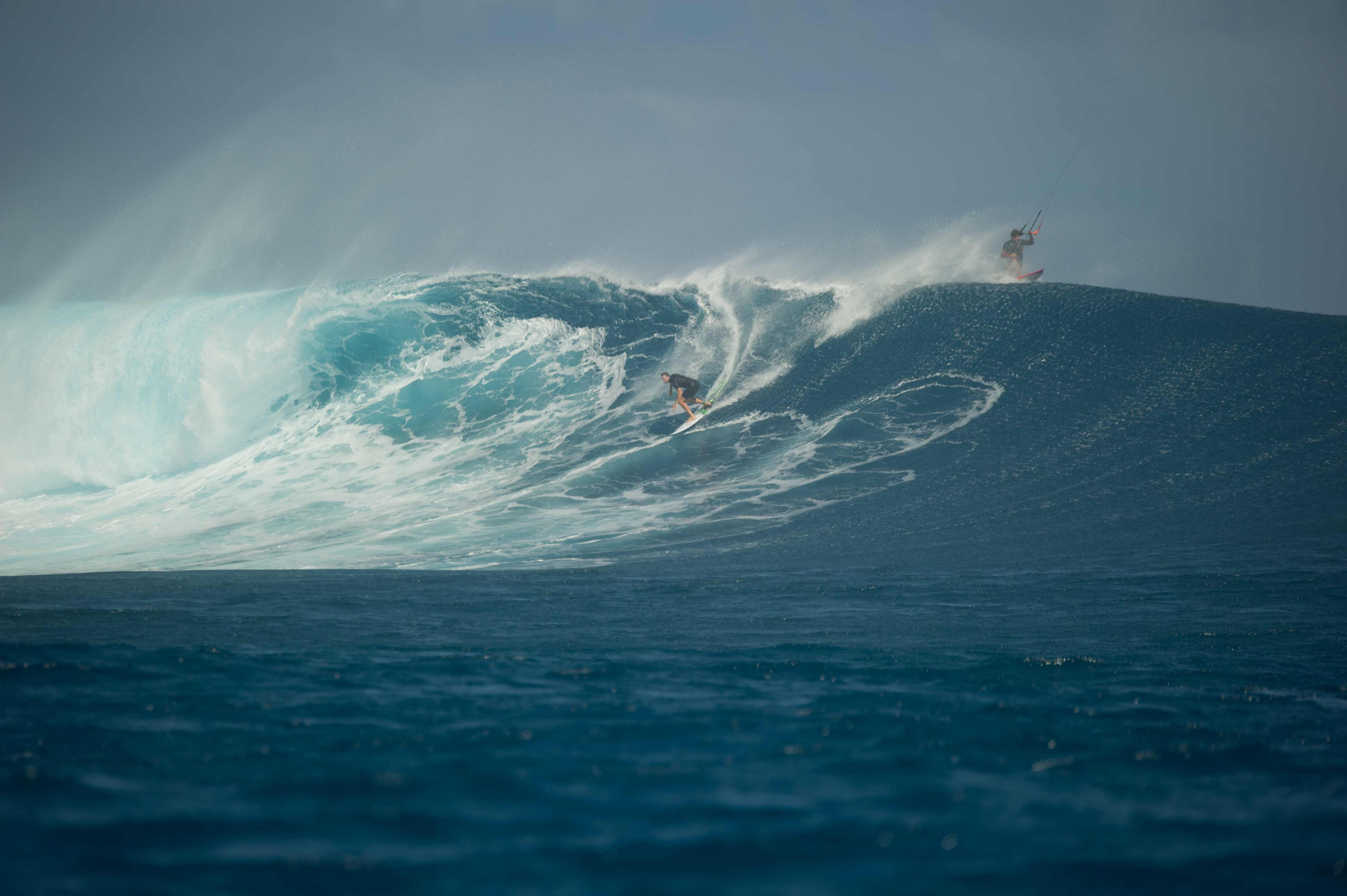 Ben Wilson kiteless at Cloudbreak.